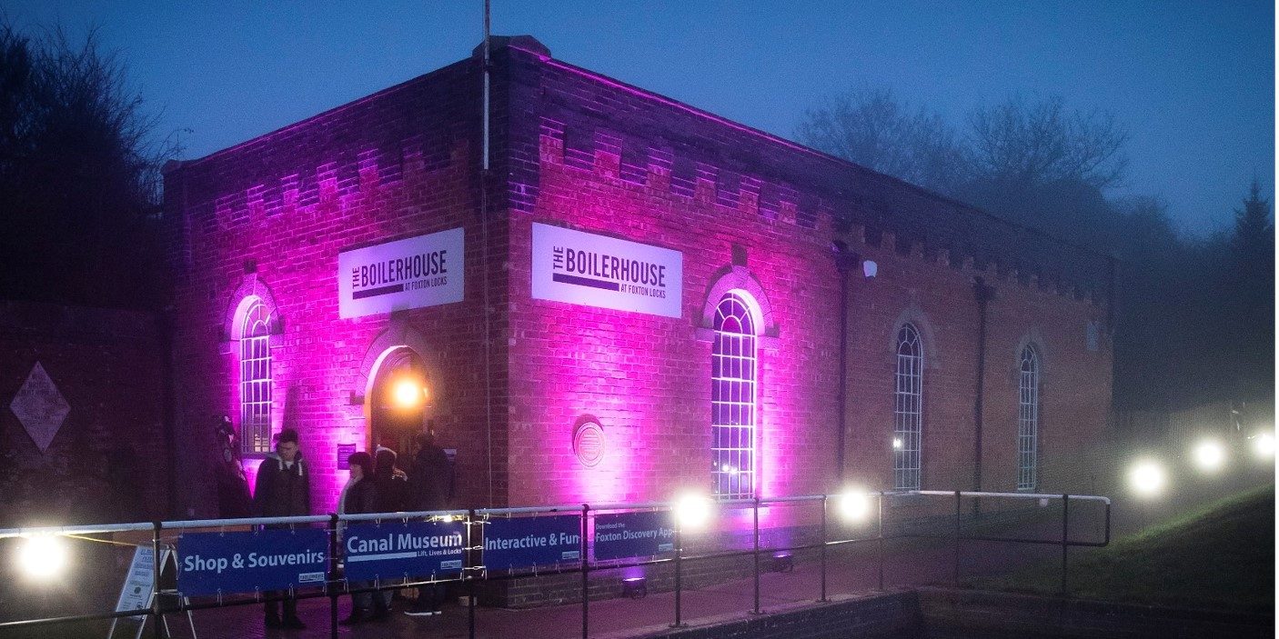 Foxton Locks illuminations - Boilerhouse Museum