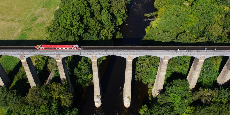 Pontcysyllte Aqueduct from above