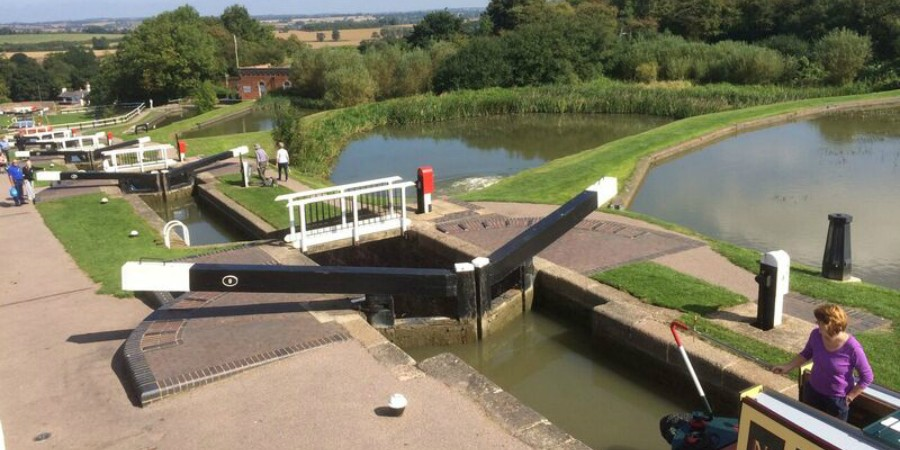 Boating through Foxton Locks courtesy Richard Boyles