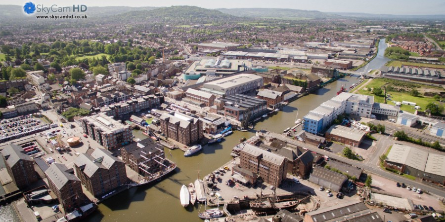 Gloucester Docks courtesy SkyCam