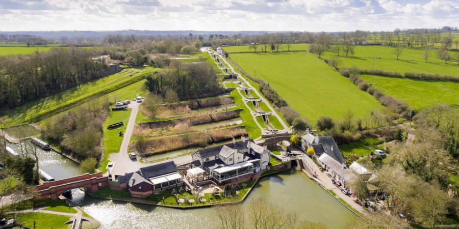 Foxton Locks from the air