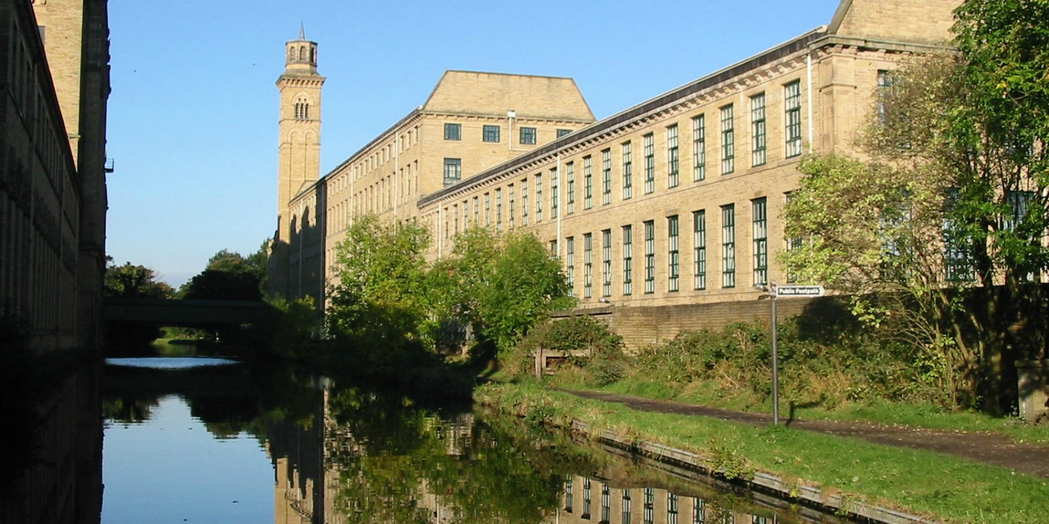 Saltaire on the Leeds and Liverpool