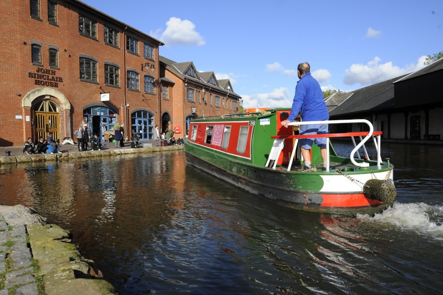 Boating at Coventry Basin