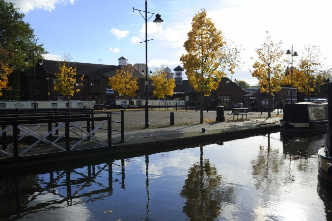 Across the Coventry Canal basin