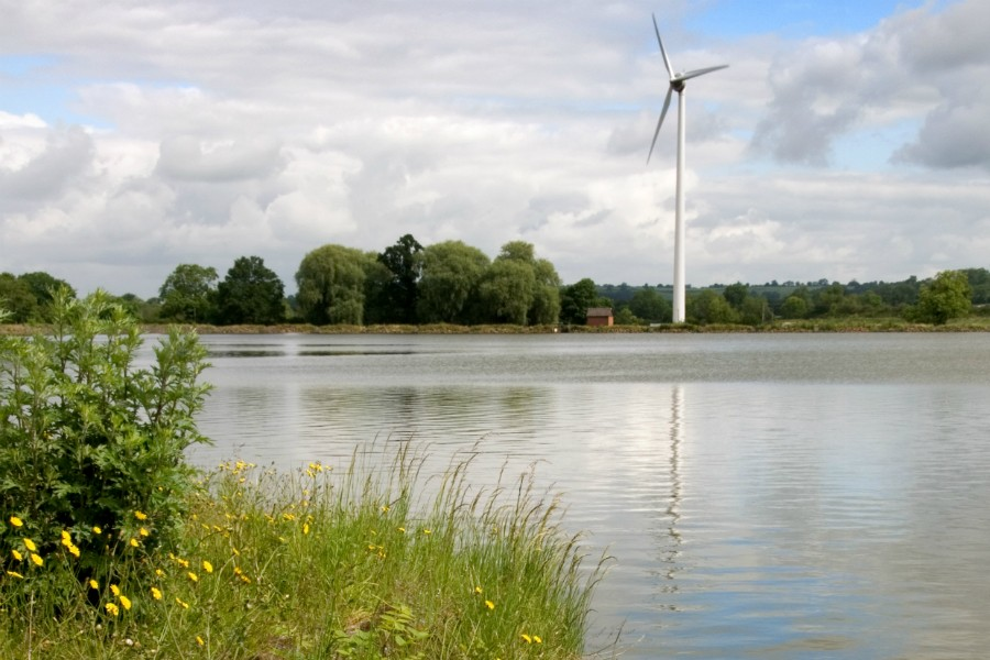 Wind turbine at Boddington