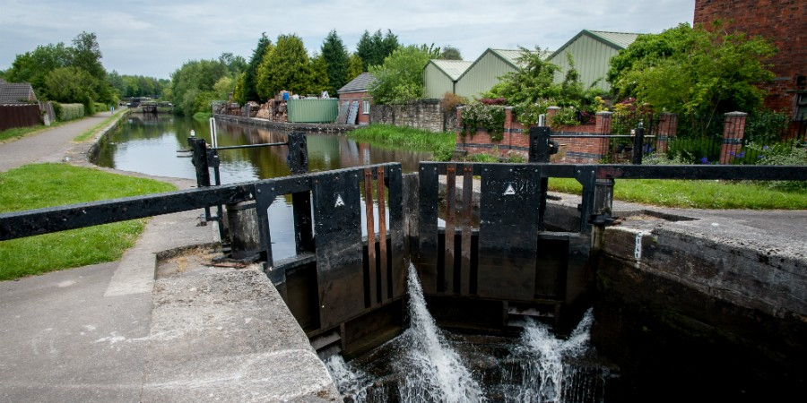 Wigan lock flight