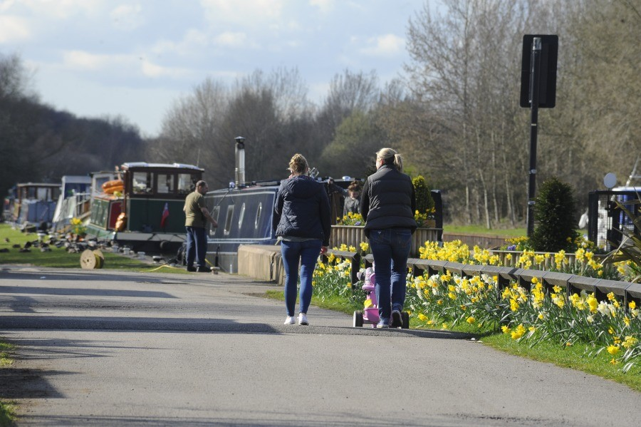 Spring at Woodlesford Locks
