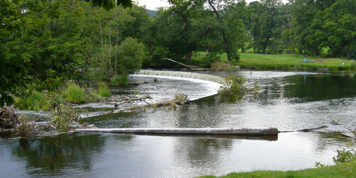 Horseshoe Falls on the Llangollen Canal