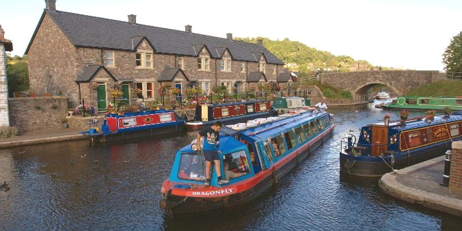 Boats in Brecon Basin