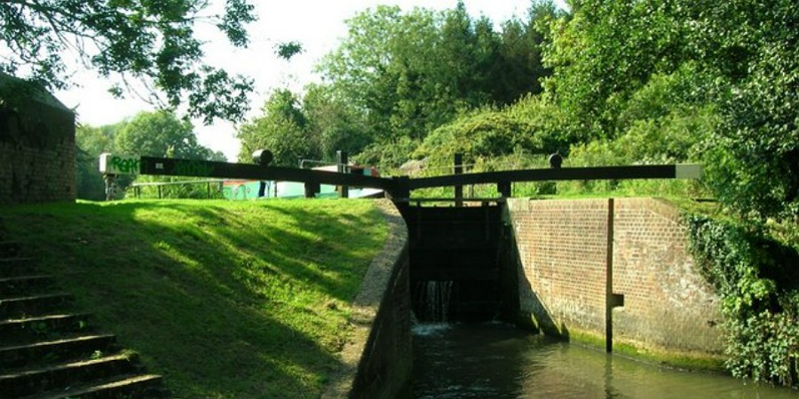 Garston Lock on the Kennet & Avon Canal
