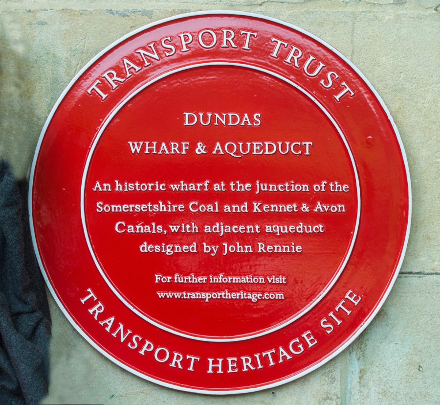 Transport Wheel plaque at Dundas
