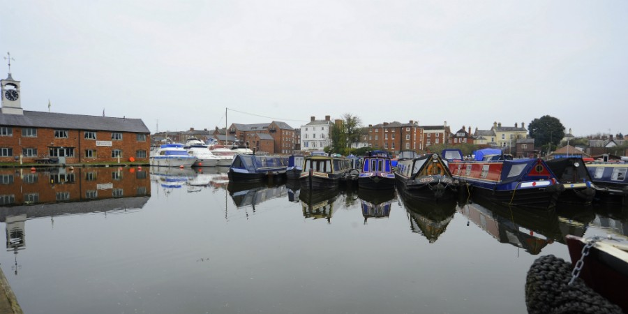 Stourport Basins view