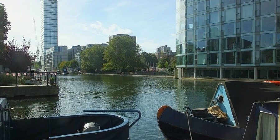 View across Islington City Rd Basin