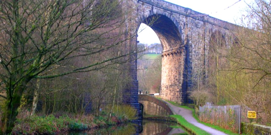 The viaduct near Uppermill