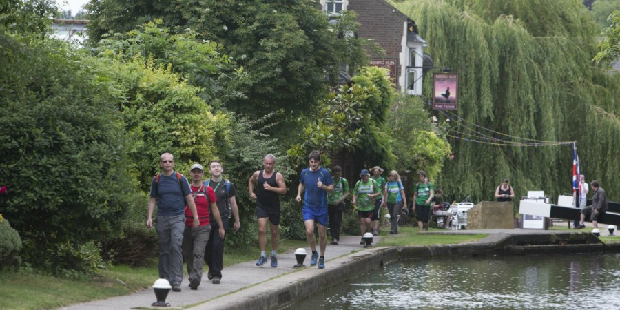 Runners on the towpath, Berkhamsted