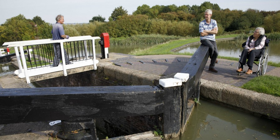 Take a pew: Foxton Locks