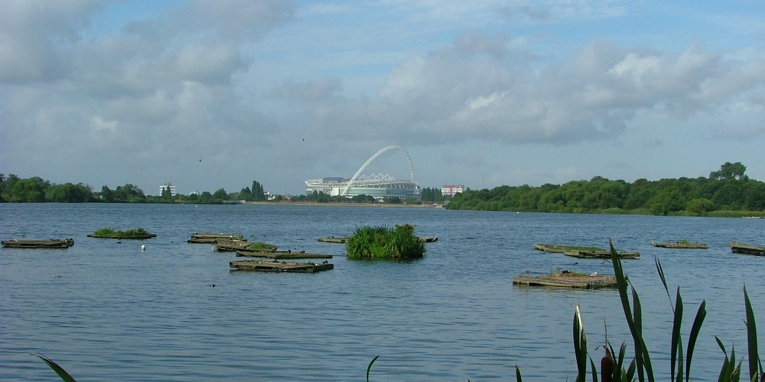 View across Brent (Welsh Harp) reservoir