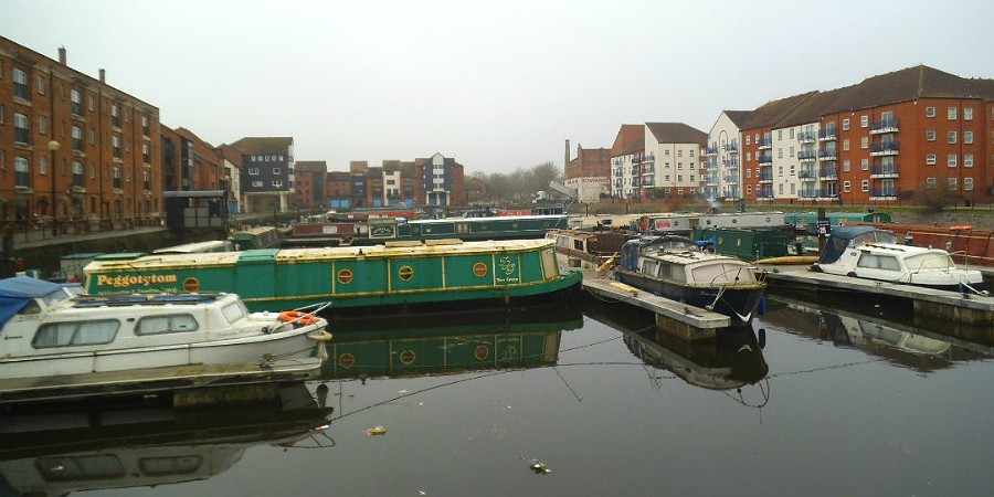 Moorings at Bridgwater marina