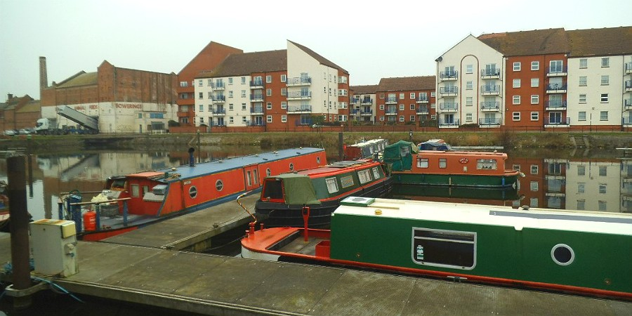 Boats at Bridgwater Docks