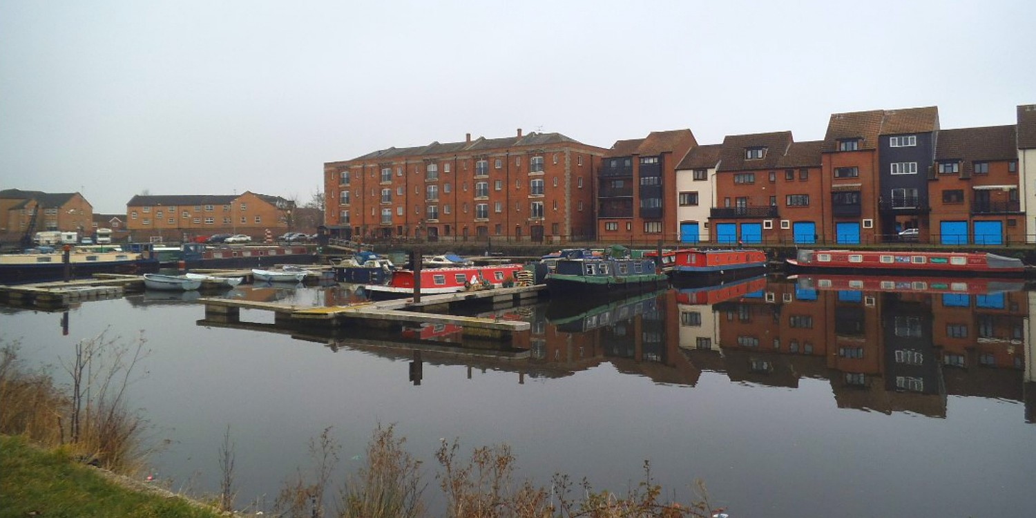 View across Bridgwater Docks