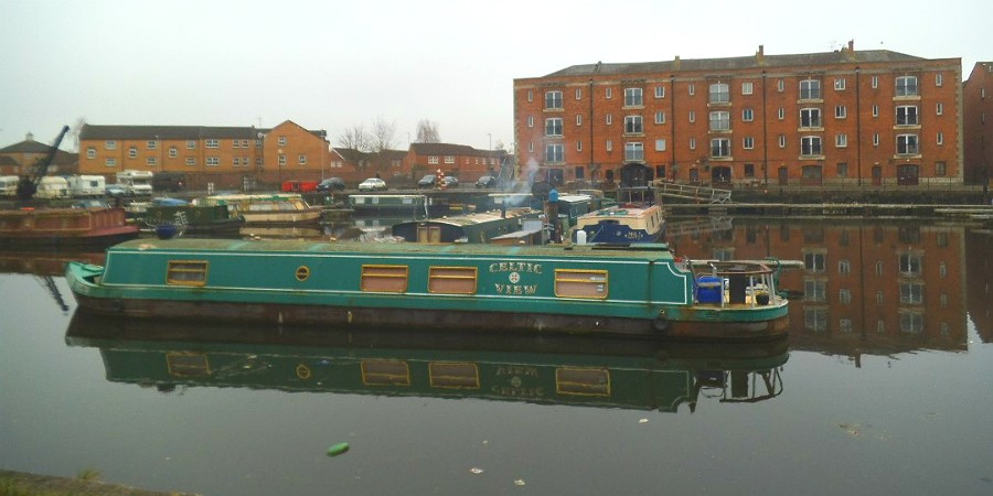 Boating through Bridgwater Docks