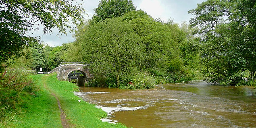 Caldon Canal meets the River Churnet