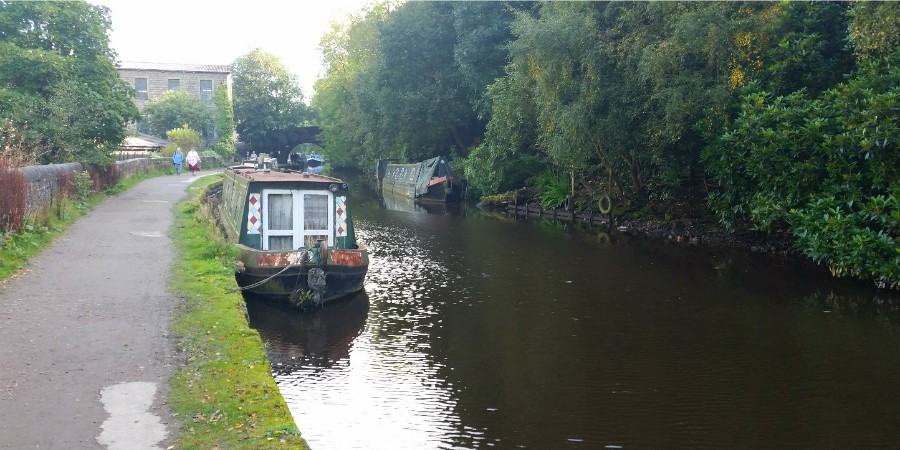 Moorings near Hebden Bridge