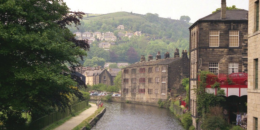 Warehouses at Hebden Bridge