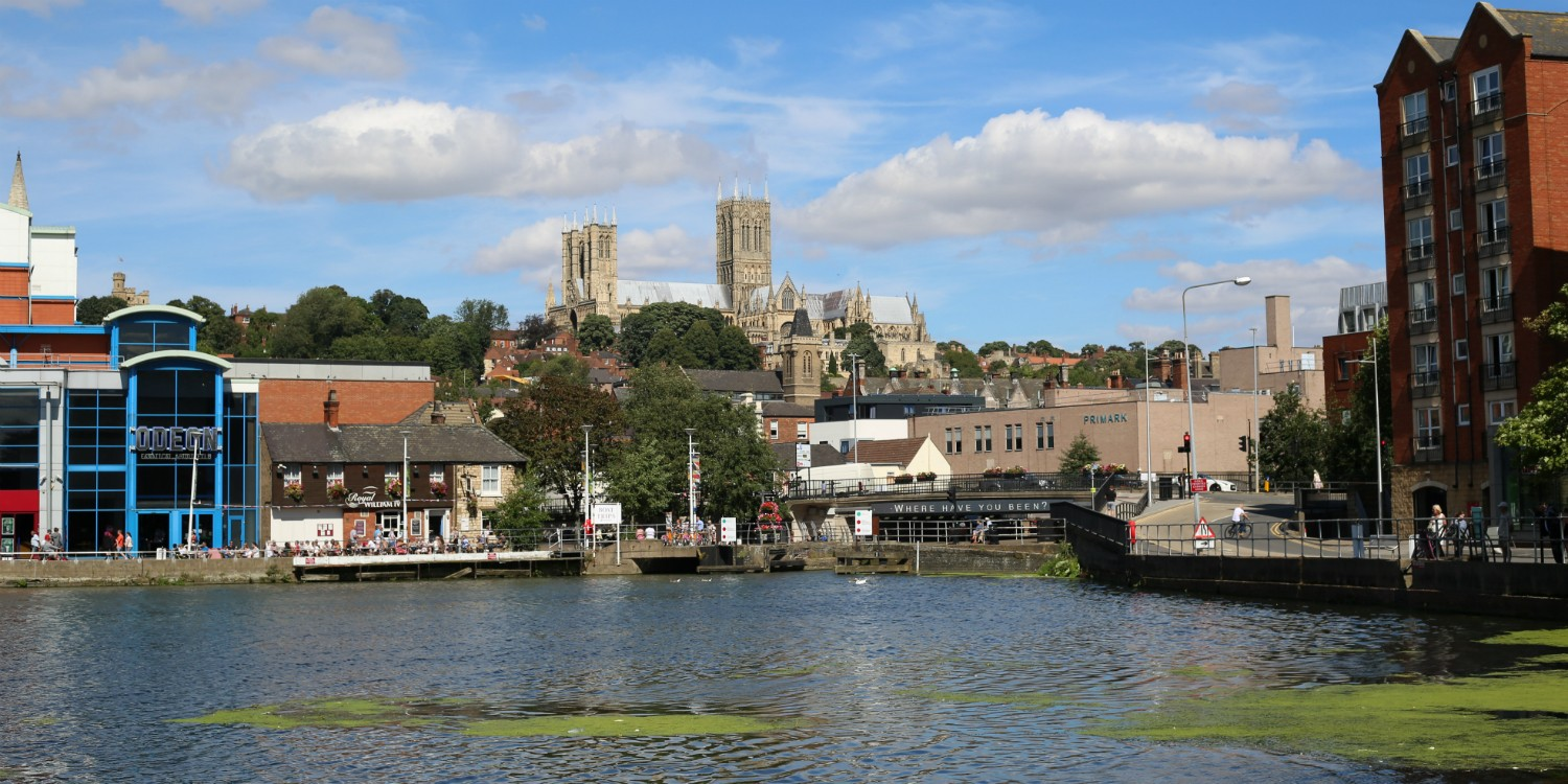 View of Cathedral from Brayford Pool