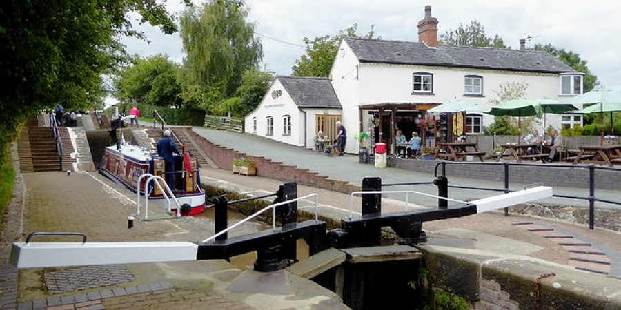 The cafe at Grindley Brook Locks