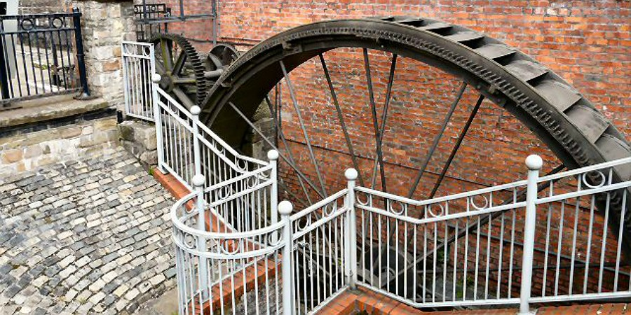 Portland Basin waterwheel