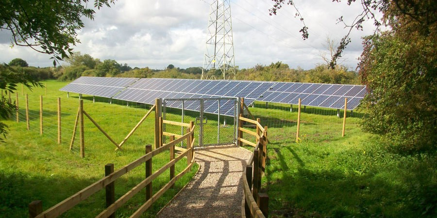 Solar Panels at Caen Hill