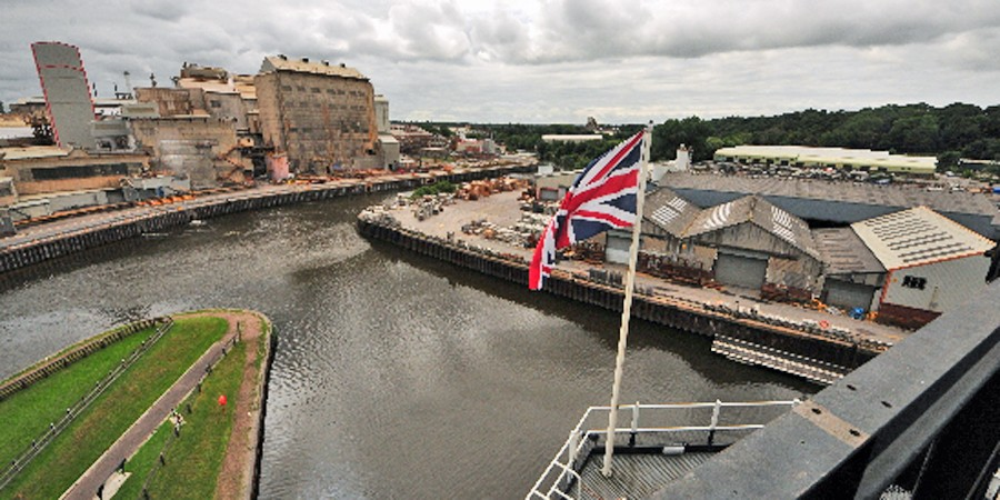View of waterway from top of Andertson Boat Lift on Top of the World tour
