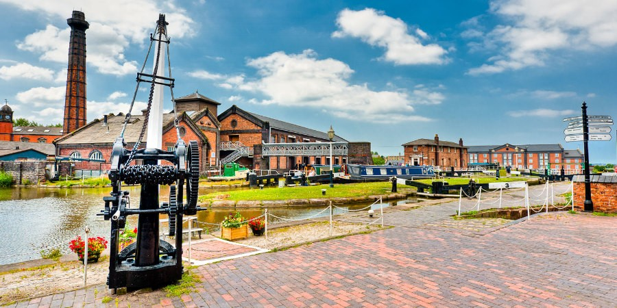 A panoramic view of the National Waterways Museum
