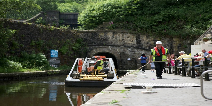 Boat trip at Standedge Tunnel