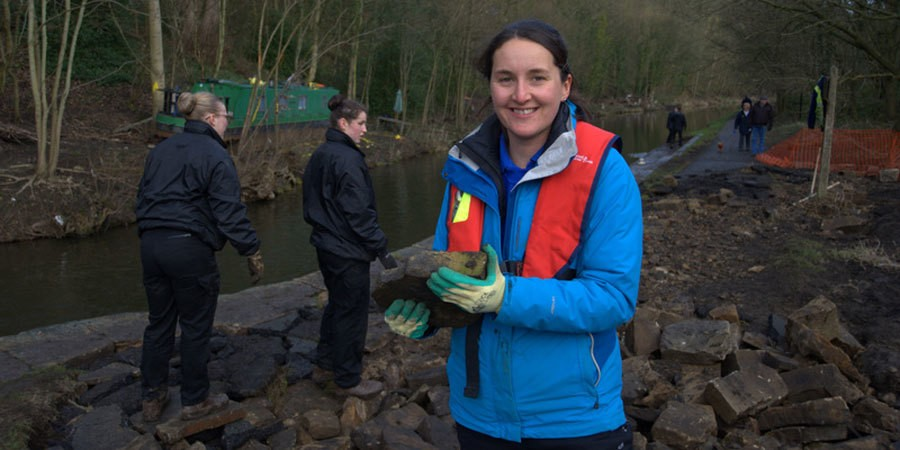 Phillippa Baron joins flood clean up efforts