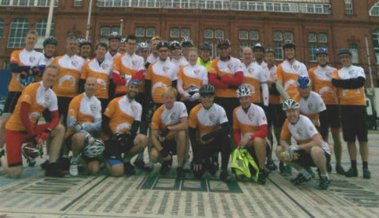 Picture of riders from Great British Bike Off