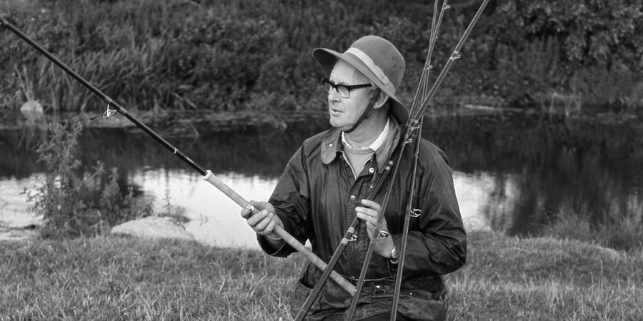 Richard Walker with fishing rods