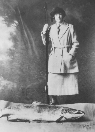 Georgina Ballantine with her record salmon