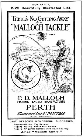 Fishing tackle advert from 1923