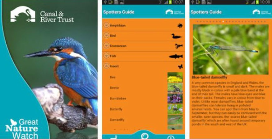 Great Nature Watch app screenshots