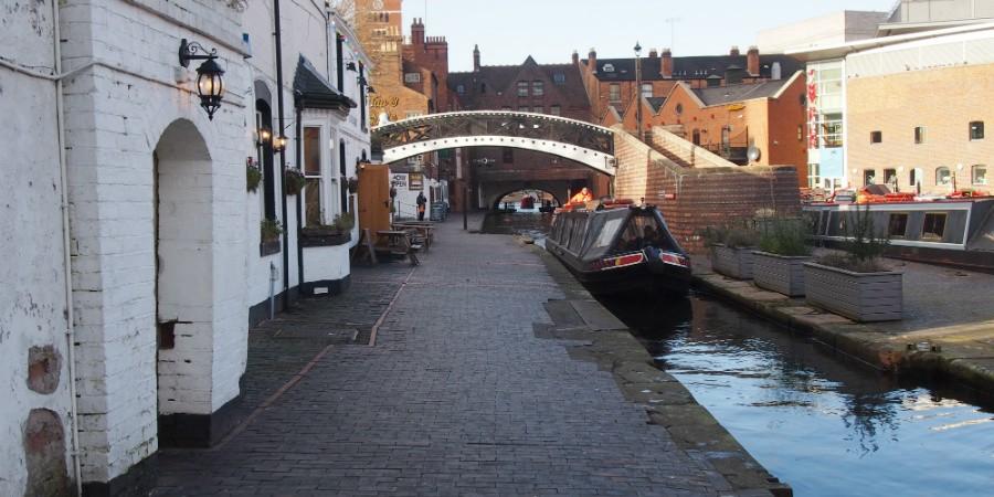 Canal towpath fazeley street to great barr street