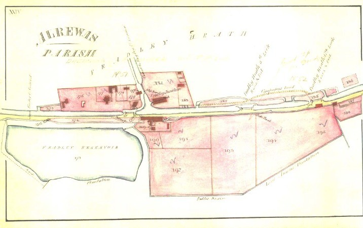 Plan of Fradley Junction