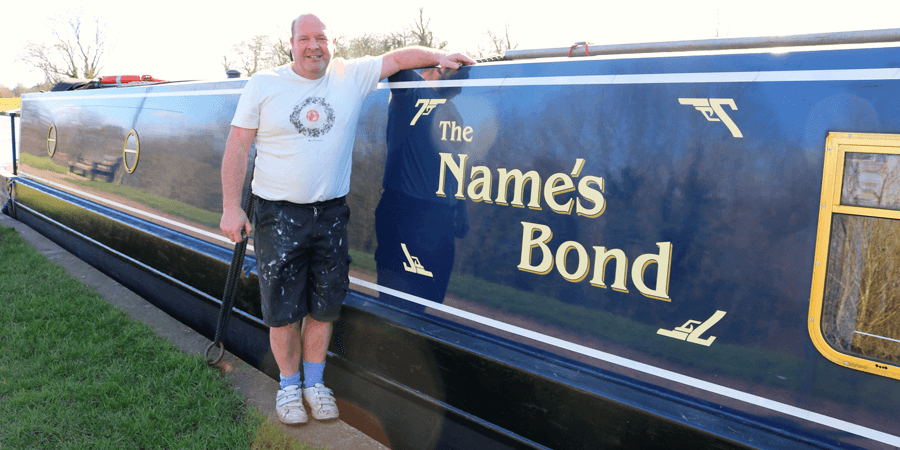 Neville Bond and his new boat
