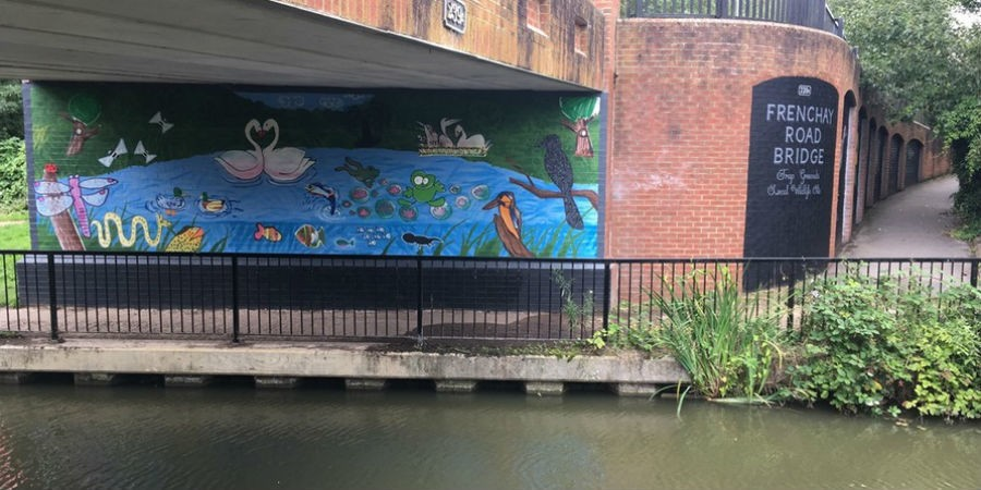Art mural project extended along oxford canal canal for Canal fluminense mural