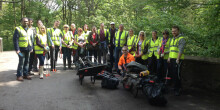 M&S volunteers having completed a day volunteering