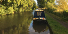 Narrowboat moored on the canal