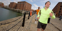 Running in Albert Docks