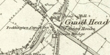 Ordnance Survey map detail of Canal Head surveyed 1851 National Library of Scotland