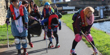 Leeds Roller Derby skaters litter picking